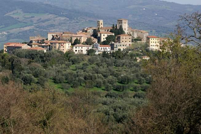 Montemerano for Planimetrie del paese di collina